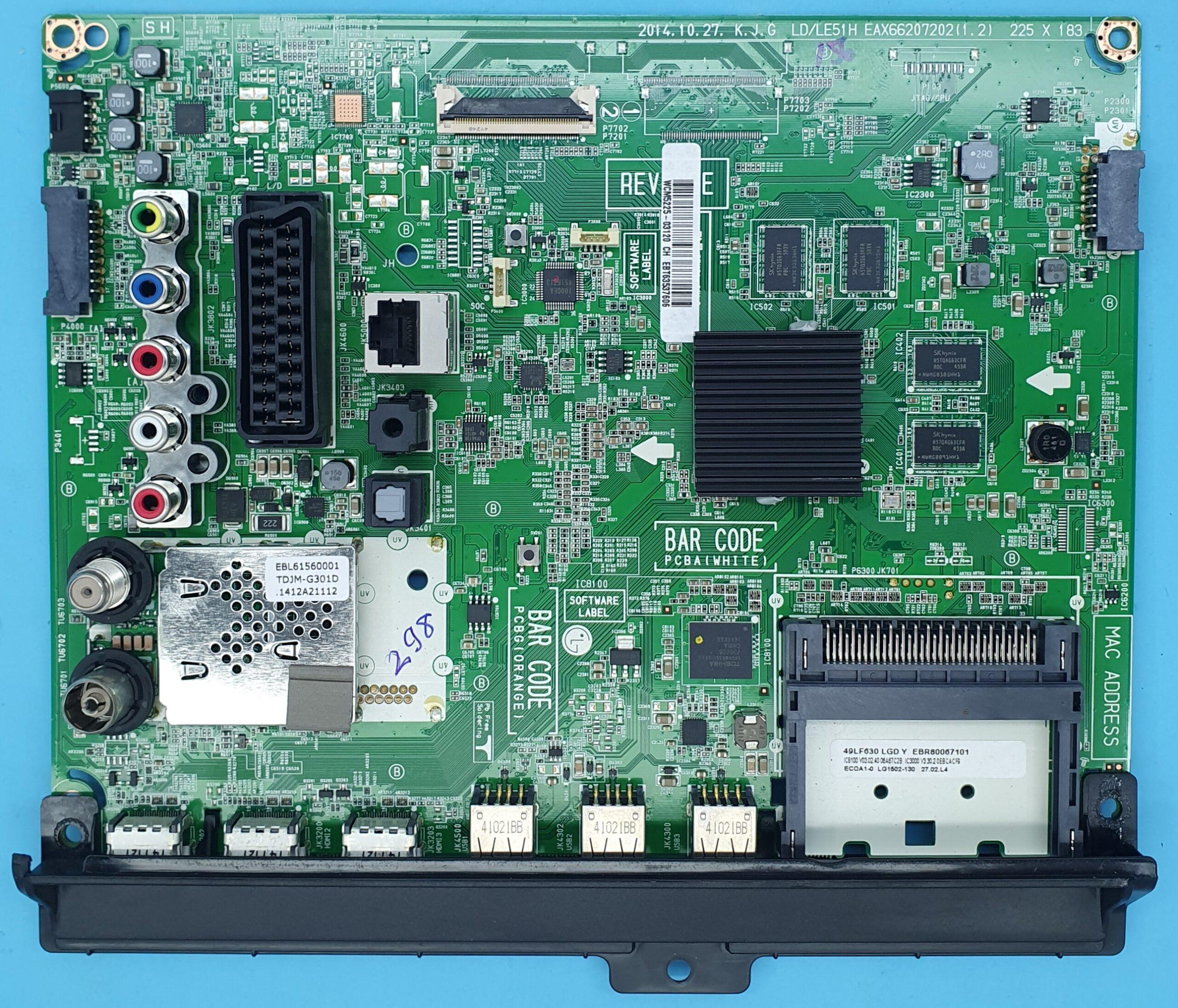 EAX66207202(1.2) LG Anakart (KDV DAHİL = 350 TL)