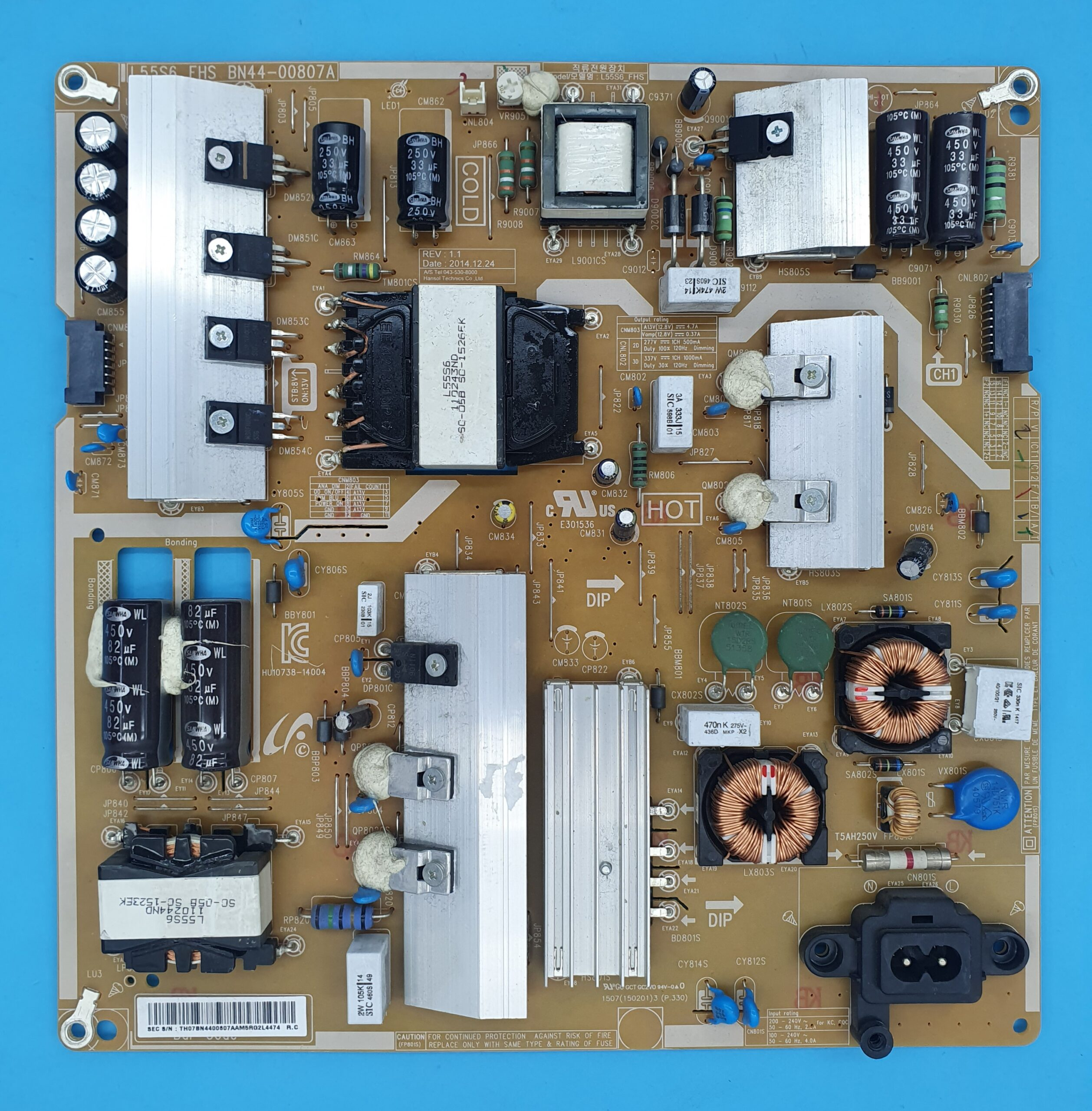 L55S6_FHS,BN44-00807A Samsung Power (KDV DAHİL = 250 TL)